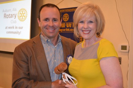 Auburn Rotary Club Passes Gavel to New Club President