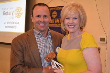 Auburn Rotary Club Passes Gavel to New Club President