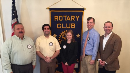 Auburn Rotarians were treated to traditional new member talks on April 6, 2016