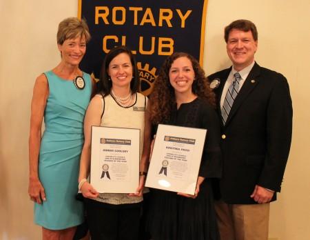 Auburn City Schools Elementary Teacher of the Year, Amber Goolsby, and Auburn City Schools Secondary Teacher of the Year