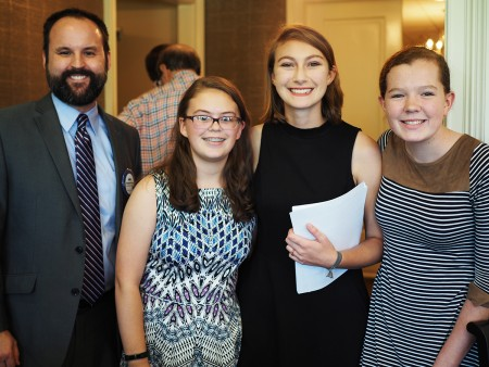 Leaders from the Alabama 4-H Club's History Seekers program