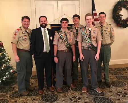Representatives of Boy Scout Troop 50