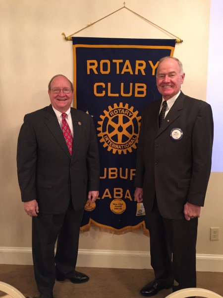 John McMillan, Commissioner of Agriculture and Industry Speaks to Auburn Rotary Club