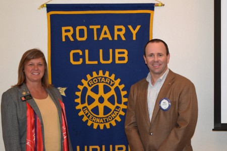 "District Governor Linda Mong Presents ""Light Up Rotary"", the 2014 Rotary Theme"