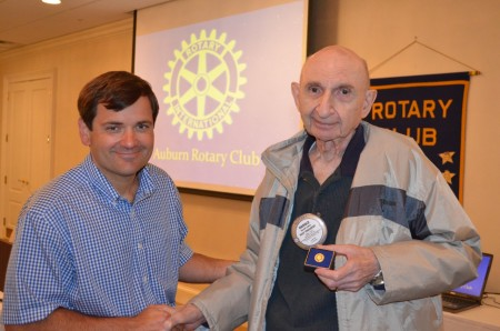 Dr. Harold Zallen receives Paul Harris Fellow pin