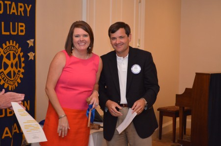 Martee Moseley New Auburn Rotary Club President